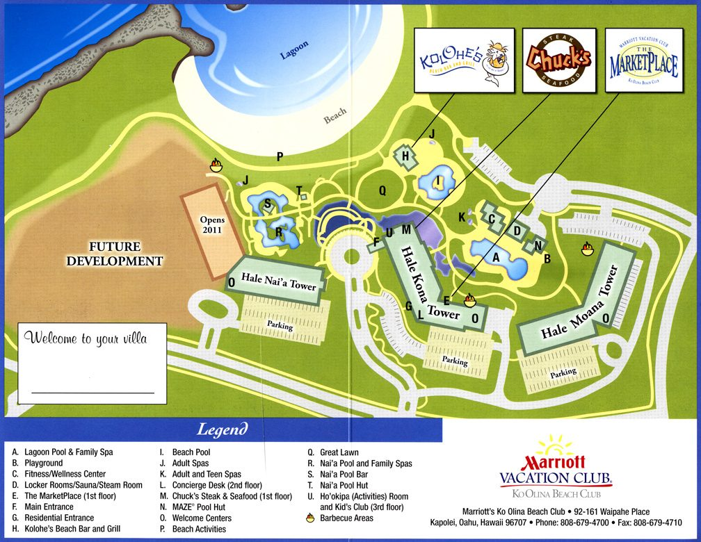 Marriotts Ko Olina Beach Club MKO Resort Map