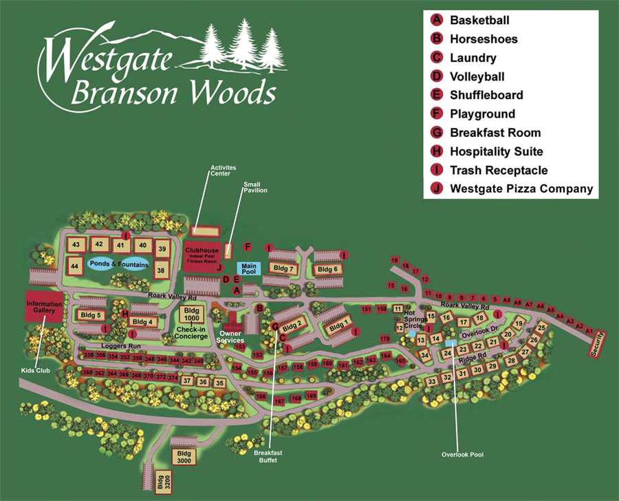 Westgate Branson Woods Timeshare Users Group - Branson tourist map