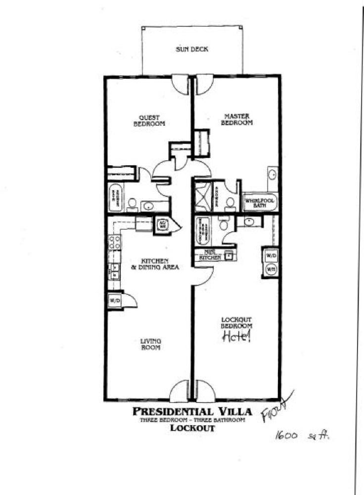 Tug presidential villas at plantation resort for Sheraton broadway plantation floor plan