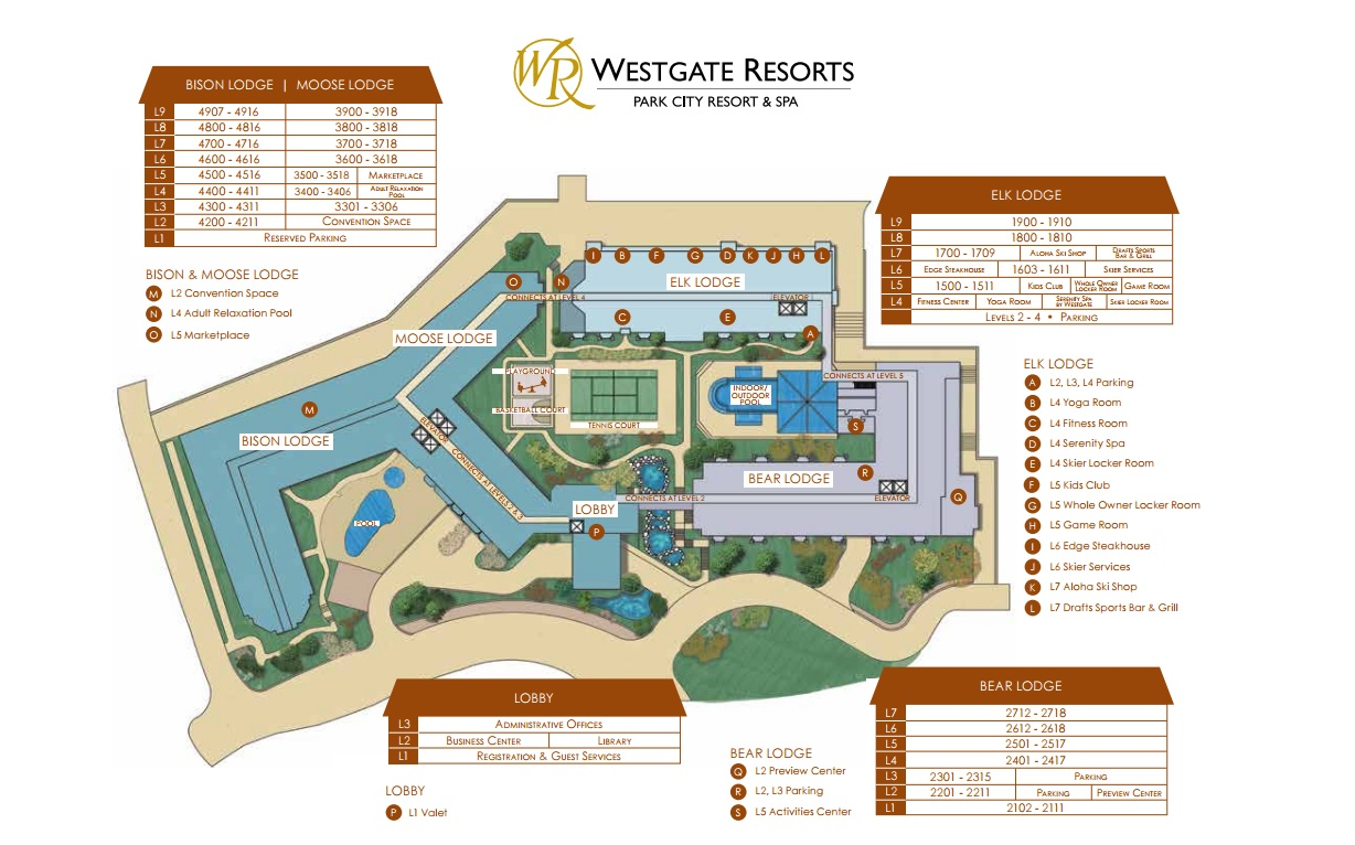 Westgate Park City Resort And Spa Map